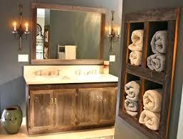 rustic bathrooms ideas choose the rustic bathroom mirror frame style bathroom