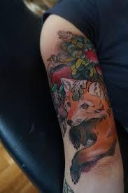 30 best fox sleeve tattoo images on pinterest arm tattoos fox