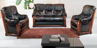 Leather And Wood Sofa Leather And Wood Sofa Sofamoe Info