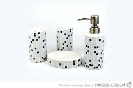 Modern Bathroom Accessories Sets Luxury Mosaic Bathroom Accessories And Aqua Sparkle Mosaic