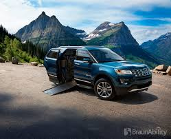 Ford Explorer Towing Capacity - ford explorer braunability mxv is world u0027s first wheelchair