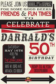50th birthday invitation surprise men birthday 30th 40th 60th