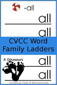 free cvcc word family ladder printables it has the following
