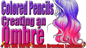 coloring hair colored pencils 5 ombre