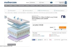 Crib Mattresses Uk Mothercare Recalls 2 Cot Mattress Fears They Could Catch