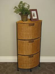 storage unit with wicker baskets 4d concepts corner 3 drawer unit in wicker metal beyond stores