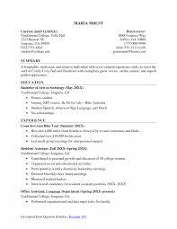 undergraduate college student resume exles internship resume no experience exles high teacher