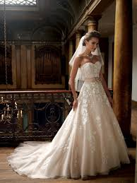 Champagne Wedding Dresses In Stock Princess Sweetheart Applique Lace Champagne Wedding