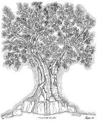 tree of 1 drawing by glenn mccarthy and photography