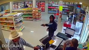 mexican cowboy takes armed robber bravery captured on store s
