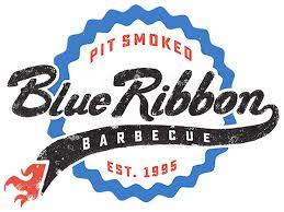 logo ribbon blue ribbon bbq catering boston worcester providence restaurants