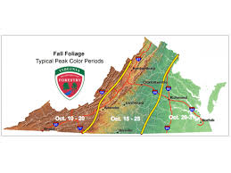 virginia state parks map fall foliage in virginia when will leaves peak va patch