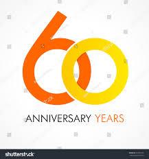 celebrating 60 years birthday 60 years celebrating classic logo stock vector 293966156