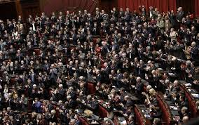 parlamento seduta comune colle il voto lo scrutinio l elezione di mattarella foto sky