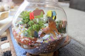 our 1st diy terrarium with masons home decor mums and babies