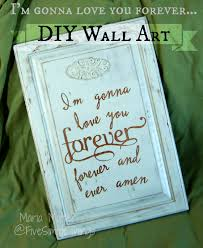 five simple things love you forever wall art recycle