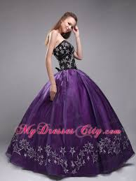 and black quinceanera dresses sweetheart embroidery purple and black quinceanera dress