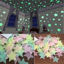 Glow In The Dark Lights Wall Stickers Decal Glow In The Dark Baby Kids Bedroom Home Decor