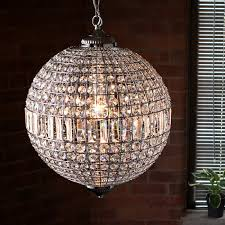 Lead Crystal Chandelier Suspended Lead Crystal Ceiling Chandelier Chrome Iconic Lights