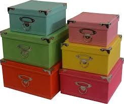 Amazon Decorative Storage boxes in pastel colors nested