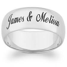 ring with name engraved custom name engraving titanium ring weddingringmart s