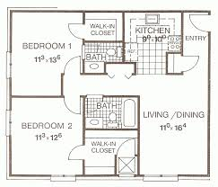 Large Apartment Floor Plans Outstanding Two Bedroom Apartment Floor Plans Photo Decoration