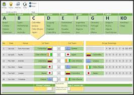 Excel Spreadsheet Templates Fifa 2014 Cup Predictions Excel Spreadsheet Template