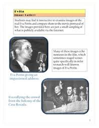 evita movie worksheets cloze fill in activity by elise parker