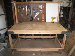 custom beginner here wooden garage workbench plans free
