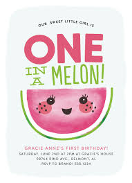 birthday party invitations one in a melon at minted com