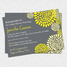 baby shower invitations gender neutral boy or yellow and
