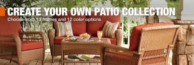 Patio Pads Patio Furniture Home Depot Hampton Bay Oak Cliff 7 Piece Metal
