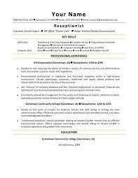 medical receptionist resume objective image for 20 medical