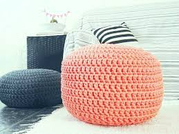 coral large 20 pouf ottoman nursery foot stool floor