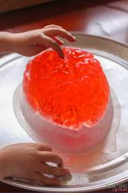 brain dissection jell o sensory play sugar spice and glitter
