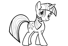 my little pony twilight coloring pages funycoloring