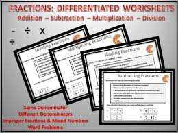subtracting fractions worksheets by dooble teaching resources tes