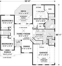multi family compound plans southern style house plan 3 beds 2 baths 1800 sq ft plan 56 630