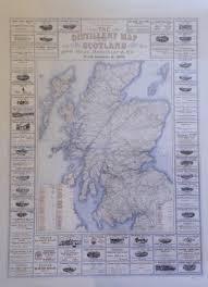 Scotch Whisky Map Mackinlay U0026 Co The Distillery Map Of Scotla In Scotland
