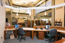 Library Office by Grundy Library Beam Illuminating Architecture