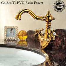 Polished Gold Bathroom Faucets by Aquabrass 5516 55073 Gd Royale Crystal Widespead Bathroom Faucet