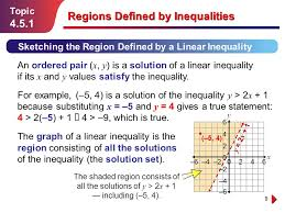 1 topic regions defined by inequalities regions defined by