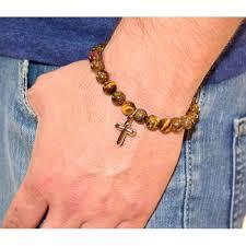 cross beads bracelet images 54645 men s stainless steel spiritual cross beads bracelet jpg