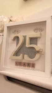 25 wedding anniversary gift personalised 25th wedding anniversary scrabble picture