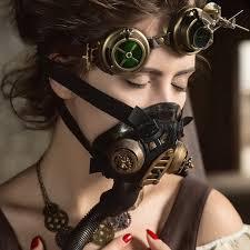 gas mask costume online shop gold metallic resin conduit rock cool