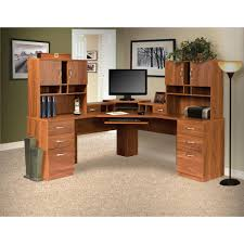 onespace essential white computer desk hutch with pull out