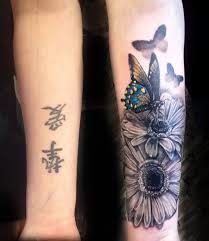butterfly flowers forearm forearm