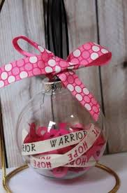 breast cancer awareness or breast cancer survivor ornament