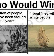 Boat People Meme - no would win tion of people 1 boat filled wit ve been around white
