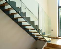 Stair Banister Glass Bespoke Staircase Guildford With Glass Balustrade